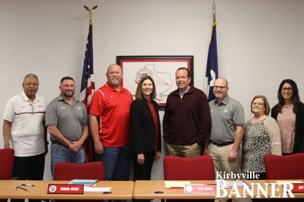KCISD Board of Trustees with Georgia Sayers