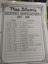2nd Grade Schedule for Ms. Gibson
