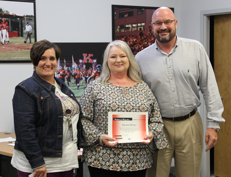 Glenda Bailey Elementary Teacher of the Month October 2018