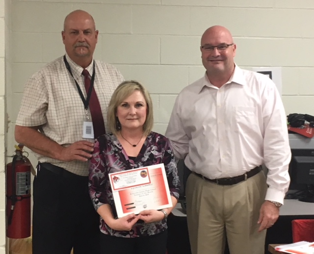 Lynette Causey Jr. High Employee of the Month March 2018