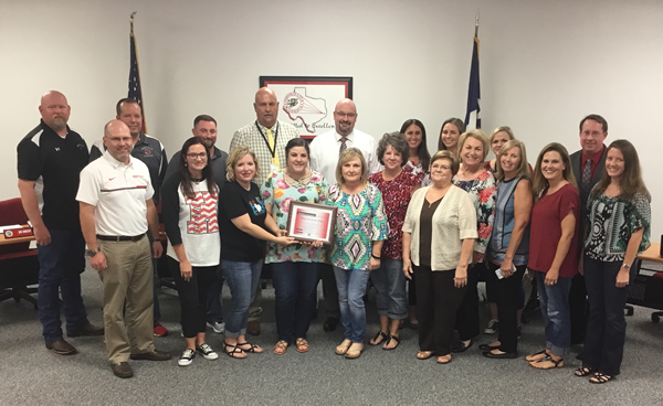 KCISD Board Honors KJH Faculty
